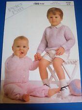 Peter Pan Children's Sweater & Cardigan Knitting Pattern P528