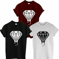 DRIPPING DIAMOND LOGO T SHIRT SWAG DOPE TOP HIPSTER TUMBLR MENS or LADIES fresh