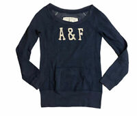 Abercrombie & Fitch Women's Crew Neck Blue Small Cotton Blend