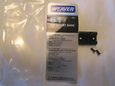 Weaver #61 (48061) Top Mount Front/Rear Base - New Old Stock