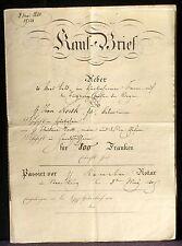 Acte notarié Strasbourg 1840 Rencker notaire, Jean North Thiébaut North