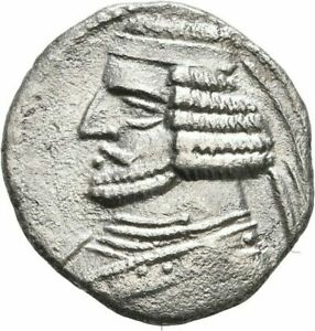 KINGS PARTHIA ORODES II DRACHM KANGAVAR ARSAKES SILVER GREEK §YES834