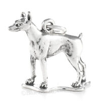 DOBERMAN PINSCHER Dog Charm Doberman Pendant solid 925 Sterling Silver 3D