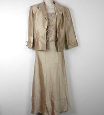 JESSICA HOWARD Evening Wear DRESS 2 Piece Long Beaded Formal w/ Jacket 10 PETITE