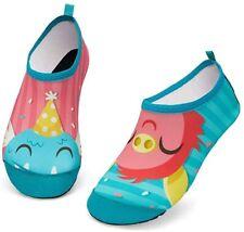 New listing HMIYA Kids Beach Shoes Anti Slip Swim Water Quick Dry Girls Size 1/2-16/17