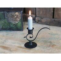 Chic Antique Kerzenhalter Kerzenleuchter schwarz Kammerleuchter Shabby Nostalgie