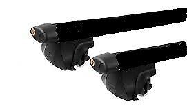 2xBLACK CROSS BAR ROOF RACK For  Kia Sportage 2004 - 2010 clamp over raised rail