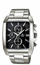 Casio Edifice Chrono Rectangle Black Dial Men's Stainless Watch EFR-511D-1AV
