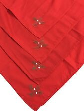 """Lot Of 4 Red Christmas Placemat, Tablenapkin Size 15""""x15"""""""