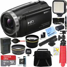 Sony HDR-CX675/B Full HD Camcorder + MiniZoom Microphone + Accessory Bundle