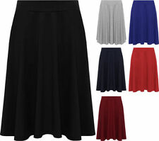 Stretch, Bodycon No Pattern Party Plus Size Skirts for Women