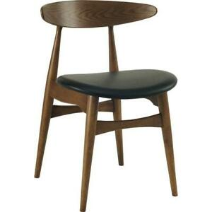 Tricia Dining Chair - Walnut + Black