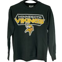 Vtg Minnesota Vikings Lee Sport Sz Medium Football Long Sleeve T-Shirt Black