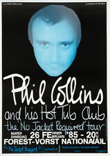 PHIL COLLINS - Forest National, Brussels 1985 - Music Concert Poster Art Print