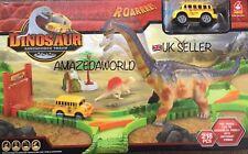 New Dinosaur Adventure Track 218 🚌 twistable /Flexible track set Xmas gift