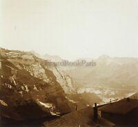 Montagne Francia Suisse Foto Stereo PL59L1n33 Placca Da Lente Vintage c1910