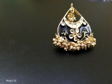 Indian Bollywood Fashion Party Wear Gold Plated Adjustable Size Kundan Rings E21