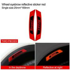 2x Red Reflective Safety Warning Strip Car Door Bumper Reflector Stickers Decal