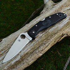 Spyderco Endura VG10 Plain Edge Flat Ground Folding Knife C10FPBK