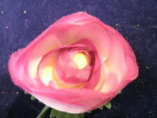 """Vintage Millinery Flower 2+"""" Ranunculus Shaded Plum KK"""