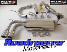 Milltek Exhaust A3 1.8 TSI 08-12 Turbo Back Non Res Inc RACE Sports Cat Downpipe
