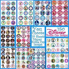 150 Precut U-pick Disney Princess Moana-Minnie-Belle-Elena-Lilo Bottle Cap Image