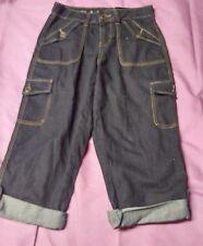 cato womens 4 blue jean pocket capris