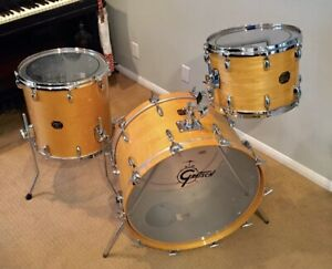 Gretsch USA Custom Vintage 3pc Drum Kit in Natural Lacquer finish 24/14/16