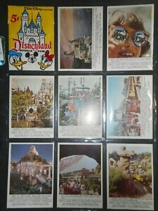 1965 DISNEYLAND COMPLETE (66) CARD SET DONRUSS  *MINT*