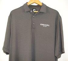 FootJoy Mens Short Sleeve Black Gray Stripe Polo Golf Shirt XL NWOT