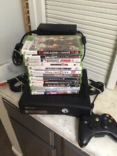 Complete Microsoft Xbox 360 S 4GB Console Model 1439  Bundle Controller 13 Games