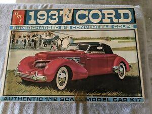 Lot 575 - 1937 Cord - 1/12 Scale - AMT Vintage
