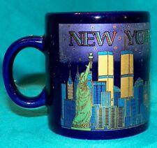 Vintage New York City Twin Towers Statue of Liberty Espresso 4oz Coffee Mug Cup