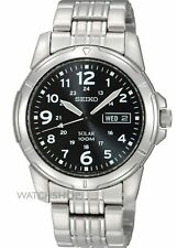 Seiko Men's SNE095P1 Solar Power Analog Quartz Stainless Steel Watch