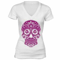 Sugar Skull Day of the Dead Shirt Mexican Gothic Dia Los Muertos Tshirt White