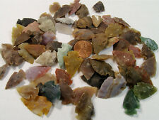 """100 PIECES ASSORTED AGATE ARROWHEADS - 1/2"""" - 1"""" (022020171)"""