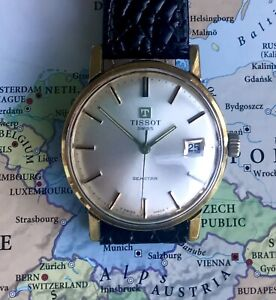 Vintage Swiss Tissot Seastar mens' watch 1971. Gold Plated. Excellent Stylish