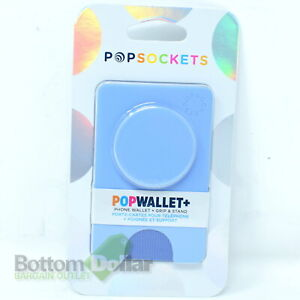 PopSockets Popwallet+ Phone Wallet + Swappable Grip & Stand Cornflower Blue