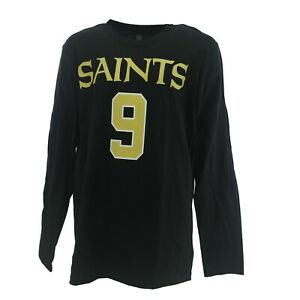 New Orleans Drew Brees Saints Official NFL Kids Youth Size Long Sleeve Shirt New