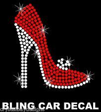 Heels High Heel Shoe Shopping Love Red Rhinestone Bling Car Decal Sticker 50-12