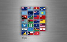 Planche autocollant sticker drapeau pays rangement classement timbre oceanie r2