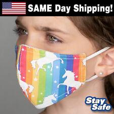 Child size Unicorn Face Mask – Includes 2 Filters – 30+ Custom Kids Designs