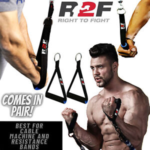 Gym Cable Machine Attachment Pulley Handles Tricep Handle Exercise Stirrup