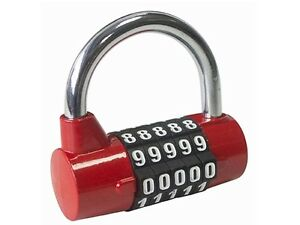 Am-tech T1144 5-Digit Combination Padlock - Ideal for Lockers - Storage Lockers