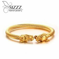 Fashion Elastic Dragon Bracelet Twisted Cable Cuff Bangles Stainless Steel Trend
