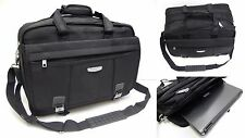 Mens Ladies Quality Large Black Expandable Laptop Bag Executive Work Briefcase