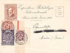 EXPO. PHILATELIQUE 1913 paris-schweiz@ganzsache/entier postale + SUPERBE zuklebung