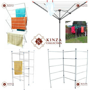 2 3 4 Fold Airer Clothes Drying Rack Folding Laundry Horse Holder Rotary Airers