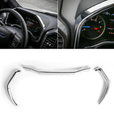 Chrome For Ford F150 2015+ Dashboard Instrument Box Trim Strip Cover Accessories