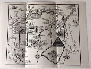 1947 San Fransisco Pictorial Map